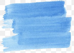 Watercolor Painting Paintbrush - Blue Watercolor Painting Azure PNG