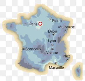 Map Of France With Cities - France Map Tuberculosis Rain PNG