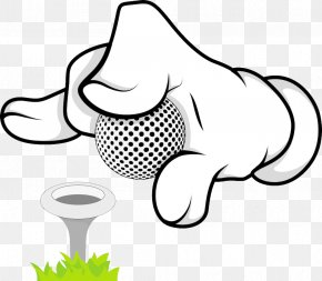 Golf Animation Hand - Golf Ball Cartoon Illustration PNG