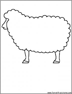 Sheep Pictures For Kids - Sheep Coloring Book Drawing Clip Art PNG