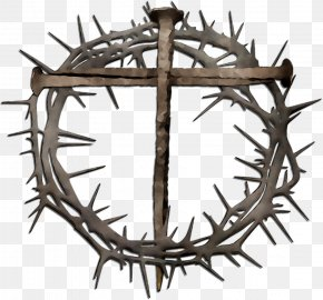 Crown Of Thorns Christianity Christian Cross Resurrection Of Jesus Clip Art PNG