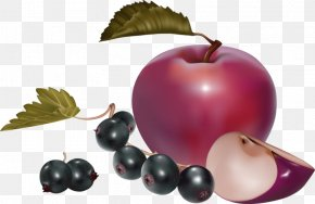Cartoon Apple Blueberry Decoration Pattern - Nutrition Health Food Healthy Diet Clip Art PNG