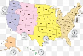 Map Of The United States - United States Globe Map Time Zone U.S. State PNG