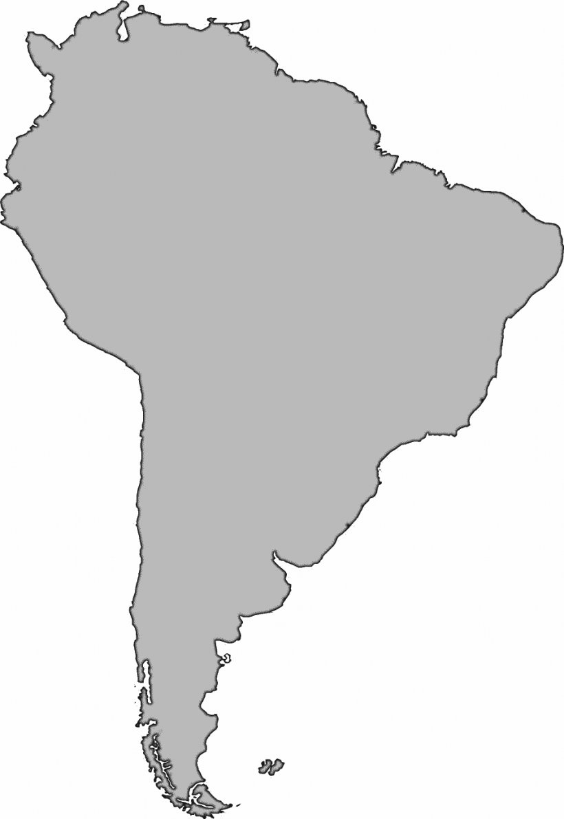 United States South America Blank Map Clip Art, PNG ...