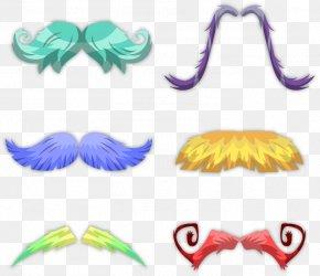 6 Colored Beard - Beard Euclidean Vector PNG