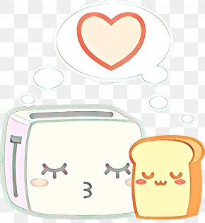 Smile Heart - Cartoon Toaster Love Heart Smile PNG