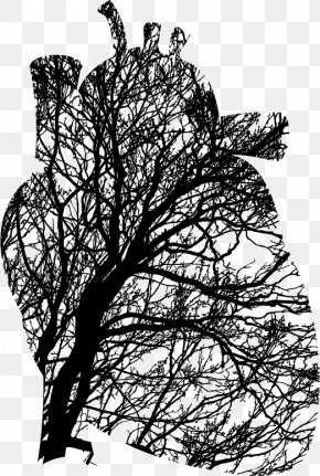 Birdcage And Heart Tree - Heart Tree Branch Cardiovascular Disease Clip Art PNG