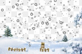 Goose Snow Scene - Snow Winter Igloo Christmas PNG