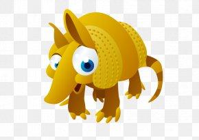 Vector Cartoon Rhino - Vowel Alphabet Letter Flashcard Learning PNG