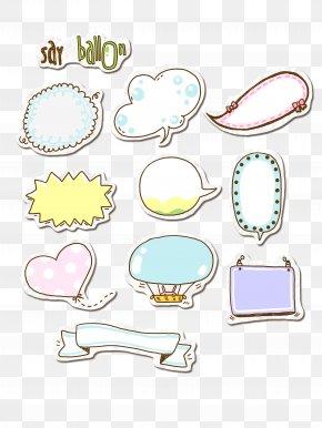Cute Cartoon Style Color Dialog Box Notes - Text Box Dialog Box PNG