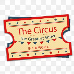 Retro Design Vector Material Circus Tickets - Ticket Circus PNG