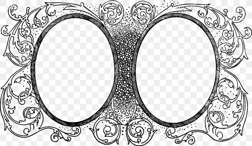 Borders And Frames Picture Frames Desktop Wallpaper Clip Art, PNG, 2553x1485px, Borders And Frames, Art, Black And White, Body Jewelry, Coupon Download Free