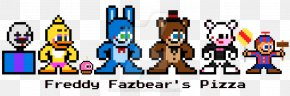 Five Nights At Freddy's Minecraft Pixel Art - Five Nights At Freddy's 2 Pixel Art Bead Image PNG
