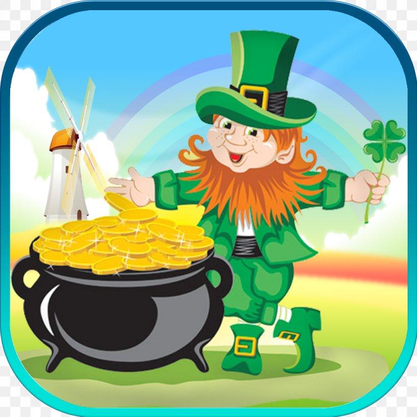 Leprechaun Saint Patrick's Day Shamrock Irish People, PNG, 1024x1024px, Leprechaun, Clover, Fairy, Fictional Character, Food Download Free