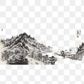 Ink Mountain View - Mountain View Ink PNG