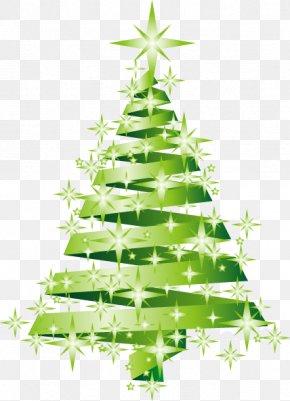 Hand-painted Christmas Tree Star Pattern - Santa Claus Christmas Tree Angel PNG