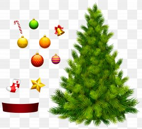 Xmas Tree For Decoration Clipart PNG