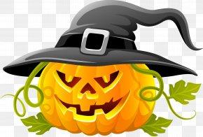 Halloween Pumpkin - Halloween Jack-o'-lantern Clip Art PNG