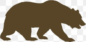 Grizzly Bear Drawing Transparent - Grizzly Bear Vector Graphics Silhouette American Black Bear PNG