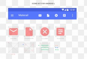 Android Phones Grid Template - Material Design Android Template User Interface Icon PNG