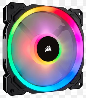 Fan Color - Light Corsair Components Computer Cases & Housings Computer Fan RGB Color Model PNG