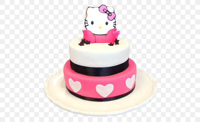 Excellent Birthday Cake Hello Kitty Cupcake Bakery Torte Png 500X500Px Funny Birthday Cards Online Inifodamsfinfo