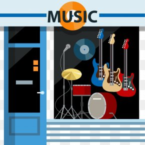 Vector Store - Musical Instrument Guitar Graphic Design PNG
