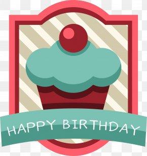 Cartoon Birthday Cake Label - Birthday Cake Torte PNG