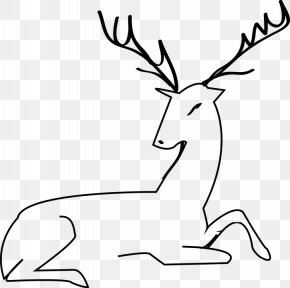 Deer - Reindeer Red Deer Moose Clip Art PNG