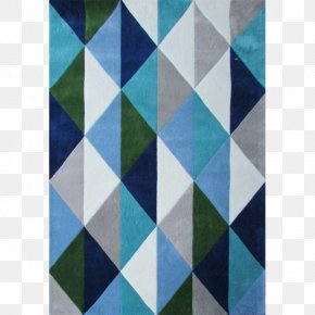 Blue Geometric - Textile Blue Carpet Tufting Living Room PNG