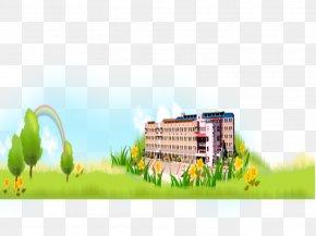 SCHOOL - School Flowers Rainbow Gratis Computer File PNG