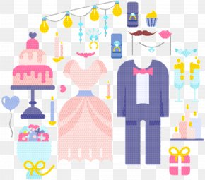 Sticker Pink - Wedding Love Background PNG