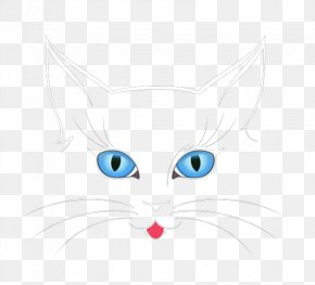 Blue Eyes Of The Cat Nose - Whiskers Kitten Cat Nose PNG