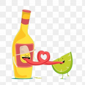 Cartoon Lemon And Whiskey Tongue Rolled Into A Heart - Scotch Whisky Chivas Regal Cartoon PNG