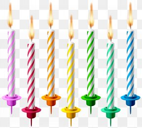 Birthday Candles Transparent Clip Art Image - Birthday Cake Candle Clip Art PNG