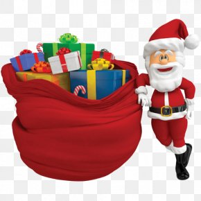 Cute Santa Claus With Gifts - Ded Moroz Santa Claus Gift Christmas Clip Art PNG