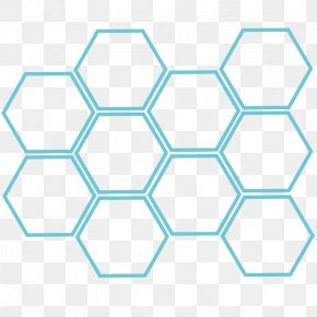 Hexagonal Box - European Dark Bee Hexagon Honeycomb Honey Bee PNG