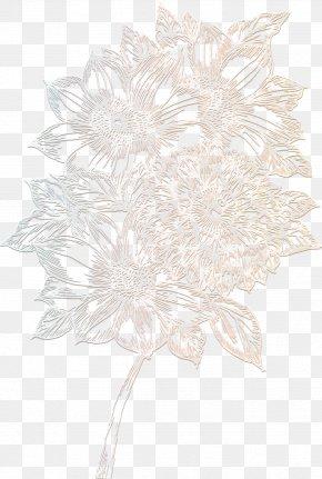 Delicate Flowers - Floral Design Monochrome Petal Flowering Plant PNG