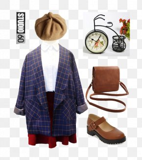 Coat And Matching Hat - Outerwear Shoe Clothing Leather Hat PNG