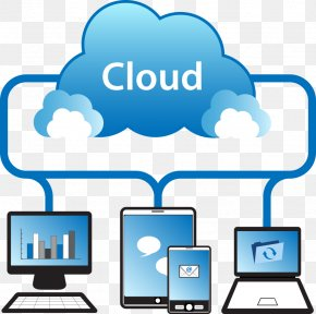 Vector Blue Cloud Services - Cloud Computing File Sharing Service Computer File PNG