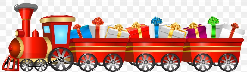 Train Tweetsie Christmas Santa Claus Clip Art, PNG, 8000x2367px, Thomas, Christmas, Christmas Tree, Locomotive, Product Download Free