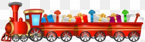 Christmas Train Transparent Clip Art Image - Train Tweetsie Christmas Santa Claus Clip Art PNG