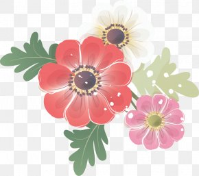 Flower - Transparency And Translucency Red Flower Blue PNG