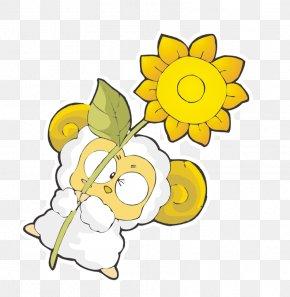 Sheep Chrysanthemum - Sheep Floral Design PNG