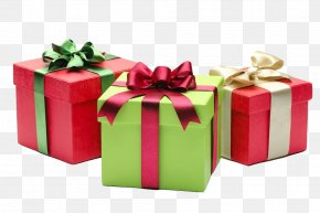 Satin Gift Box - Christmas Gift Santa Claus Happiness PNG