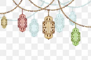 Vector Exotic Chandeliers - Ramadan Drawing Fasting In Islam PNG