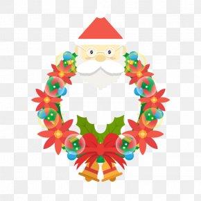 Vector Santa Claus Garland - Santa Claus Vector Christmas Ornament Illustration PNG