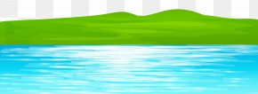 Ground With Lake Transparent Clip Art Image - Water Resources Green Swimming Pool Sky PNG