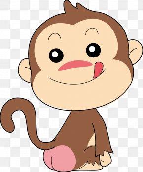Vector Greedy Monkey - Monkey Cartoon Clip Art PNG