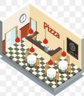 Pizza House Interior Design - Pizzaria Restaurant Interior Design Services PNG